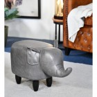 Grey Elephant Leather Stool in the House