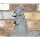 Rustic Grey Cockerel Garden Sculpture