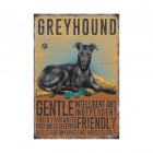 Greyhound Metal Sign
