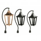 Black Swan Neck Pillar Light and Lantern Set 106cm