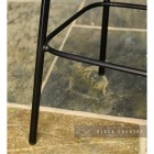 Close-up of the Gun Metal Legs on the Stool