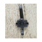 """Iron coat Hook With """"GWR"""" Imprinted Into The Back Plate"""