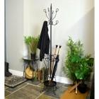 Black Hallway Butler Hat & Coat Stand in Situ in Use