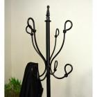 Black Hallway Butler Hat & Coat Stand Hooks