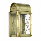 """""""Hampshire"""" Wall Lantern Finished in an Antique Brass Finish"""