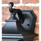 Close-up of the Black Finish on the Wall Lantern