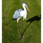 Hand-Painted Heron Garden Sculpture