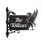 Liver Bird Wall Bracketed House Name Sign Finished in Black