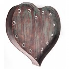 'Southerton Avenue' Heart-Shaped Wall Light