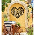 Flower Foliage Heart Wall Art in Situ