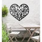 Flower Foliage Heart Wall Art Outside