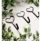 Three Iron Heart Shaped Hooks
