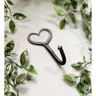 Heart Shaped Coat Hook Created From Iron