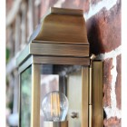 Close-up of the Antique Brass Finish on the Wall Lantern