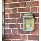 """Heathfield"" Half Wall Lantern Finished in a Antique Brass Finish"