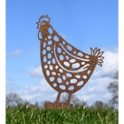 Rustic Spotted Hen Silhouette