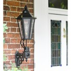 Hexagonal Victorian Wall Light Installed By Front Door