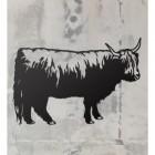 Highland Cow Wall Art on a Rustic Grey Wall