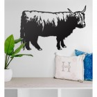Highland Cow Wall Art in Situ