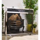 Hildern Hall Stainless Steel Contemporary Mesh Fire Guard