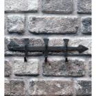'Hornchurch' Hook Rail in Situ on a Brick Wall