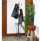 Black Hallway Butler Hat & Coat Stand in Use
