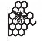 Honeycomb Bee Hanging Basket Bracket in a Black Finish