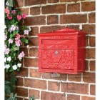 Horncastle Abbey Red Wall Mounted Post Box On Brick Wall