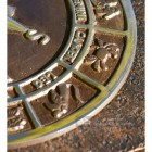 Horoscope Design Sundial Finished in an Antique Brass