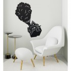 Floating House on Balloons Steel Wall Art in the Sitting Room