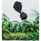 Floating House on Balloons Steel Wall Art in the Garden