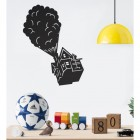 Floating House on Balloons Steel Wall Art in Situ in the children's Playroom