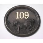House Number - Bronze Finish - Bulldog - House Sign