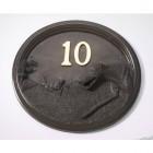 House Number - Bronze Finish - Greyhound - House Sign