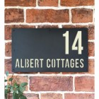 """""""Albert"""" House Sign Finished in Cream"""