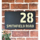 """""""Smithfield"""" House Sign Finished in Cream"""