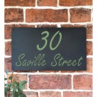 """Saville"" House Sign Finished in a Pale Green"