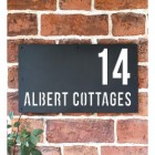 """Albert"" House Sign Finished in White"