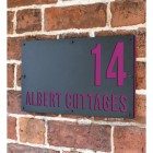 """Albert"" House Sign Finished in Purple"