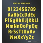 All Letters and Numbers in the Simplified Font
