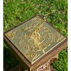Beautiful Polished brass Four seasons sundial