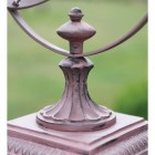 detailed image of square base of Armillary