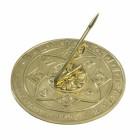 Polished Brass Tudor Rose Sundial