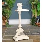 Ornate Umbrella & Walking Stick Stand Finished in Cream