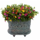 ornate planter damask vintage design
