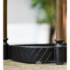 Black finish cast iron base