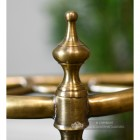 Close up of brass finial
