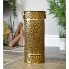 Woodland design antique brass umbrella stand