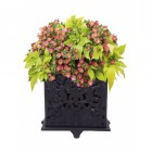 vintage damask design plant pot