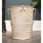 Shabby Chic fireplace coal or log bucket